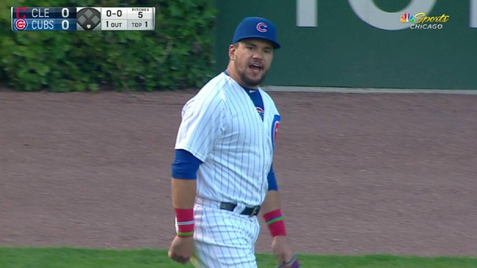 Schwarber nails Lindor at second