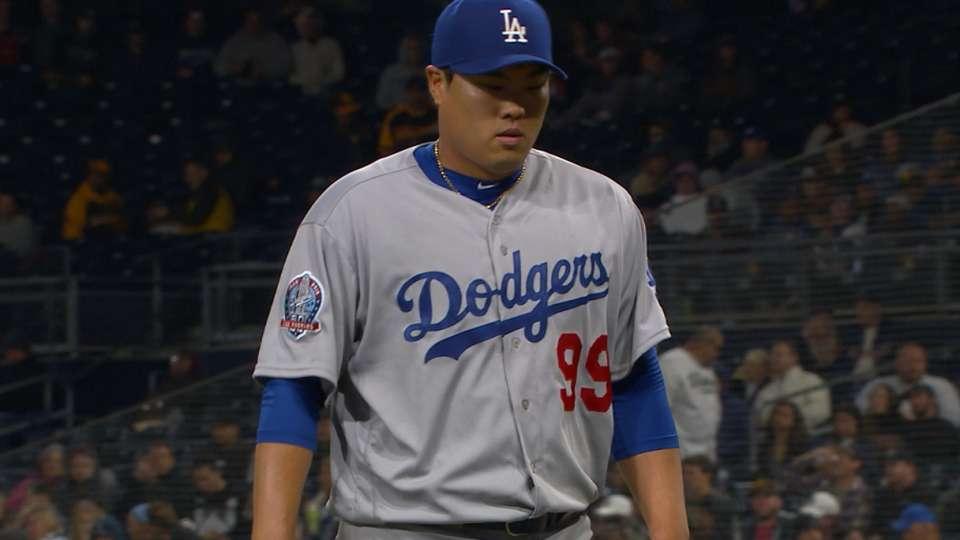 Ryu's nine K's vs. Padres
