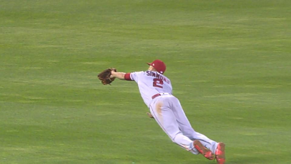 Simmons' superb diving catch