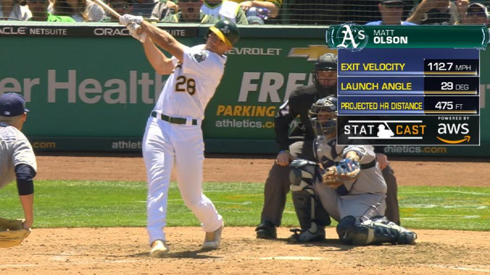 Statcast: Olson's 475-ft. homer
