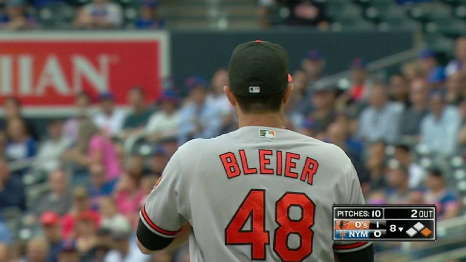 Bleier catches bunt, turns two