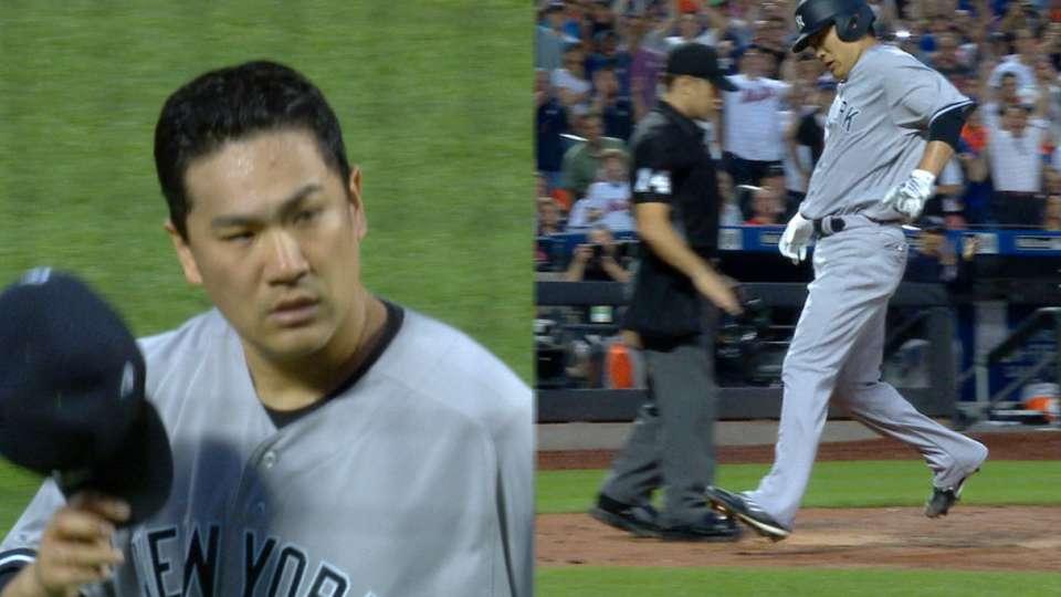 Tanaka K's 8, exits early