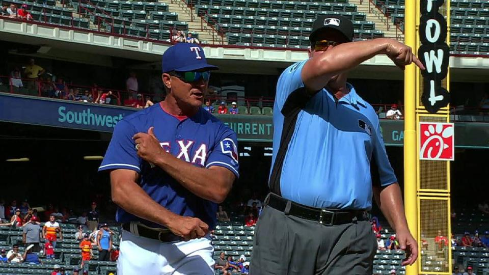 Banister ejected in the 9th
