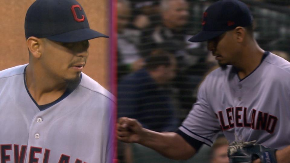 Carrasco K's 11 in 2-hit outing