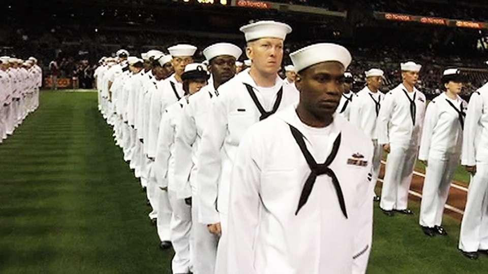 U.S. Navy re-enlistment Ceremony