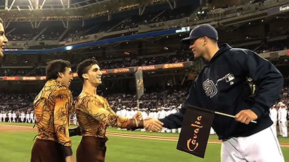 Cavalia's ceremonial first pitch