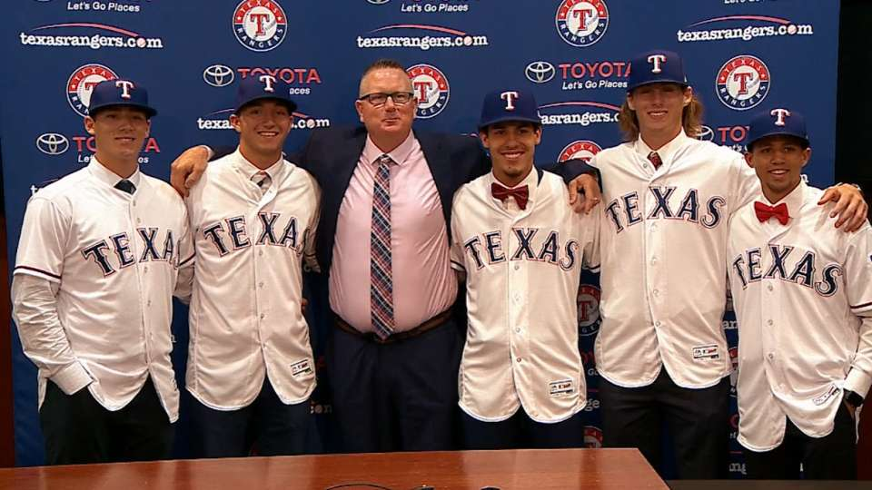 Rangers announce Draft signees