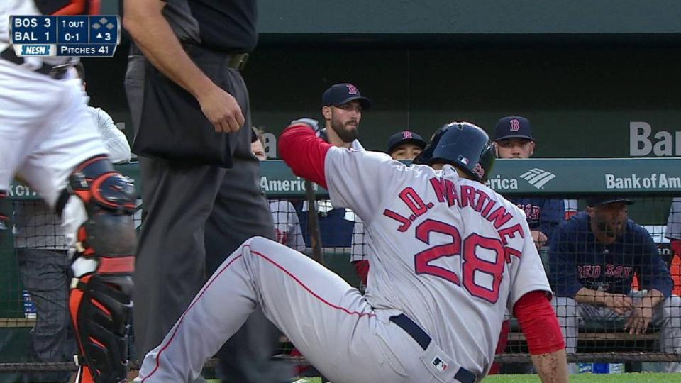 Martinez takes a scary pitch