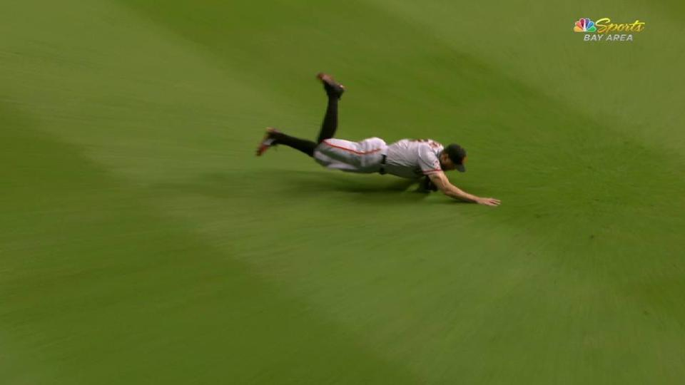 Pence's clutch diving catch