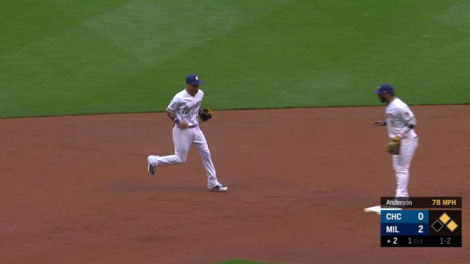 Arcia's unassisted double play