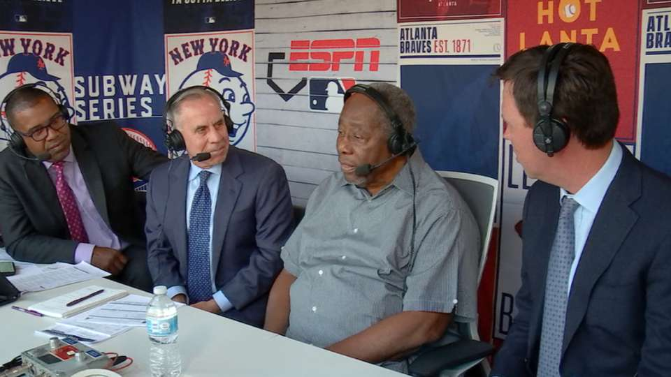 Hank Aaron joins the booth