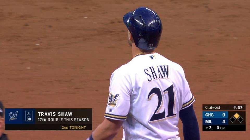 Shaw's 2nd 2-run double