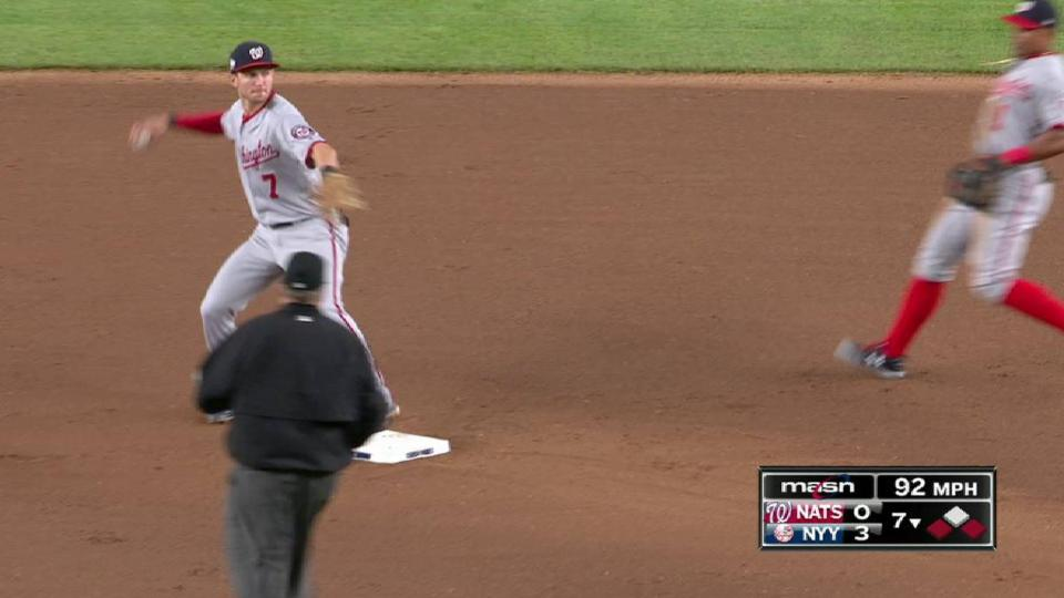 Grace induces a double play