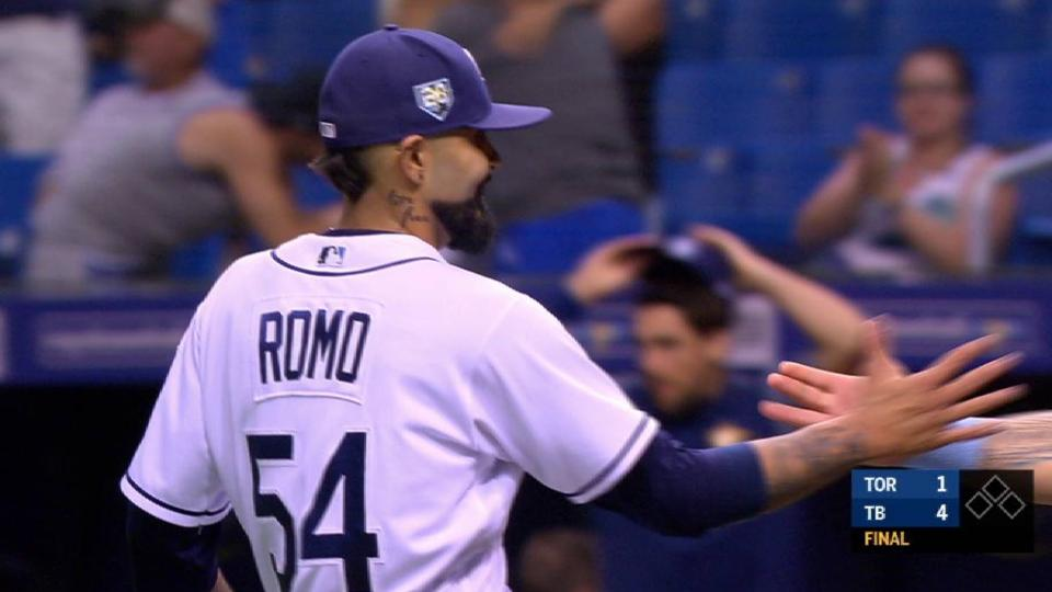 Romo records the save