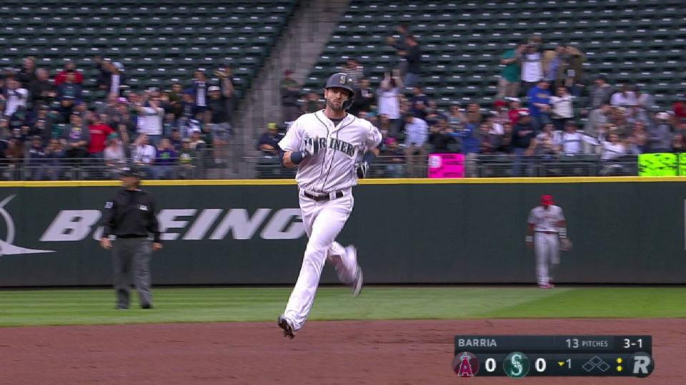 Haniger's solo shot to right