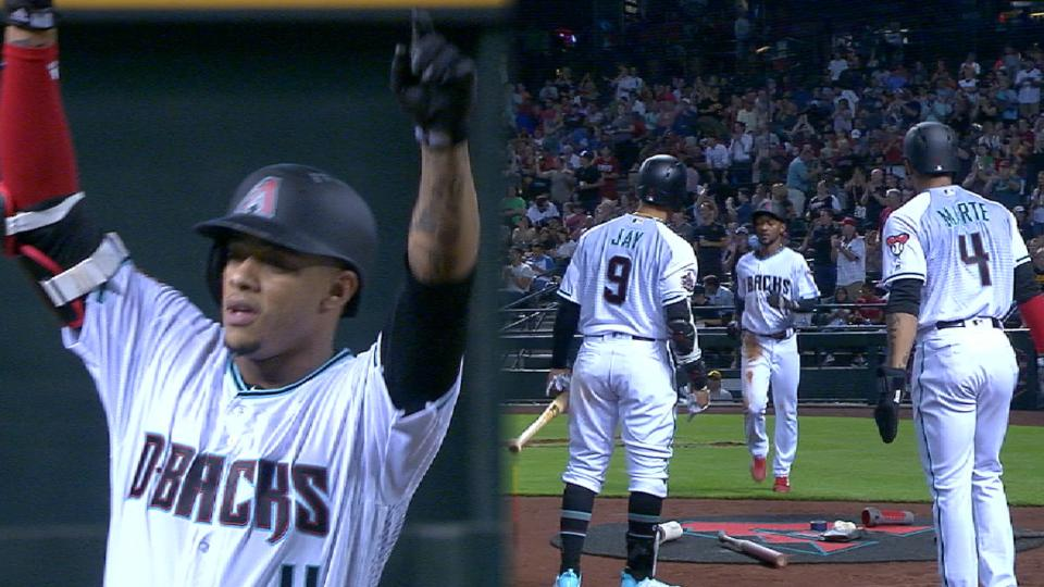 D-backs score 6 in the 1st