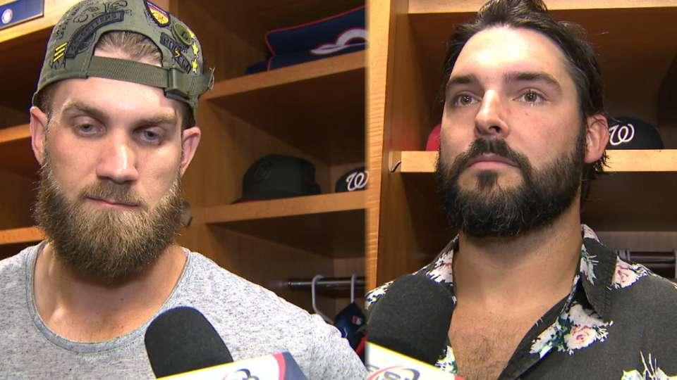 Harper on injury, Roark's outing