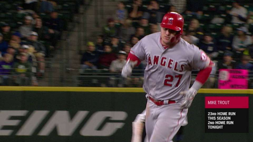 Trout's 2nd HR, 23rd of season
