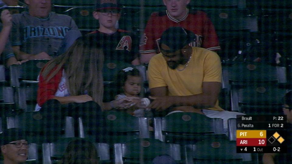 Fan makes grab, kid gets ball