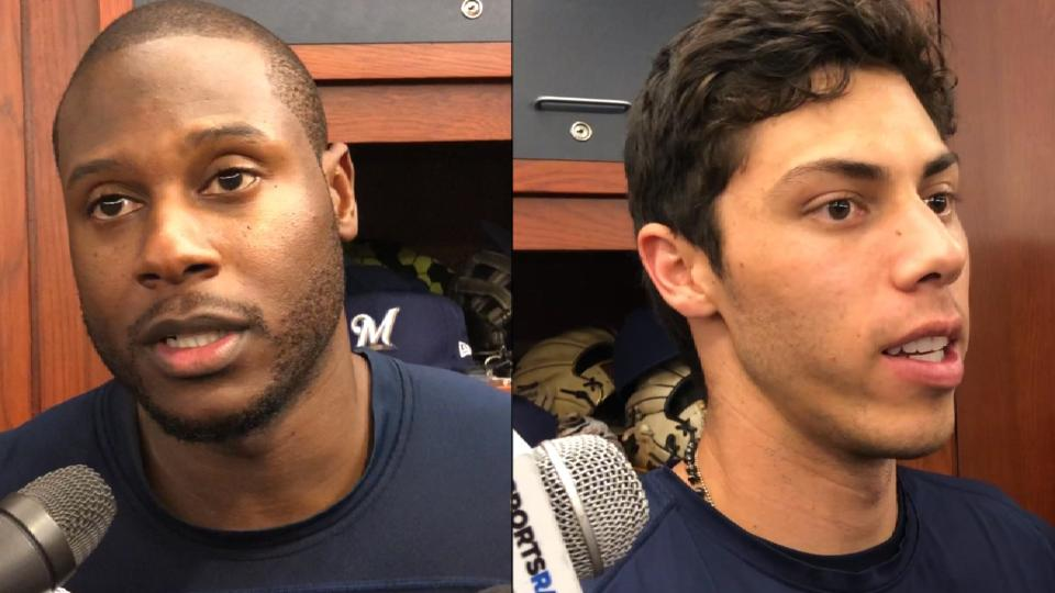 Cain, Yelich on baserunning play