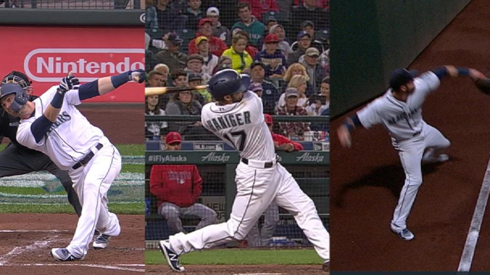 Haniger does it all in win