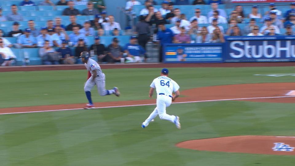 DeShields' quickest bunt in MLB