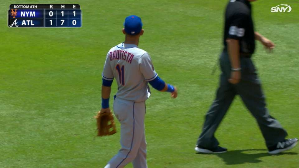 Bautista plays second base