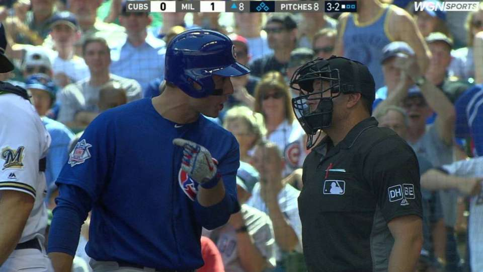 Rizzo, Maddon argue with umpire
