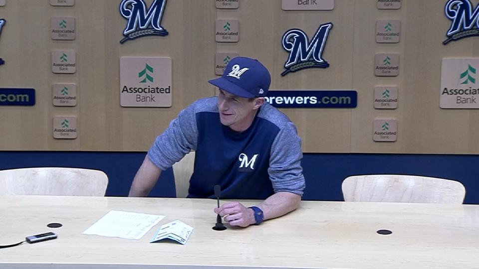 Counsell on series win vs. Cubs