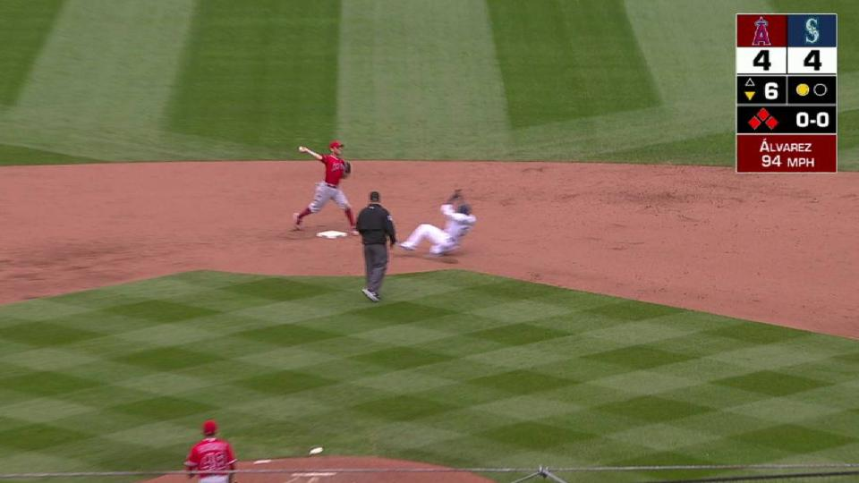 Angels turn a timely double play