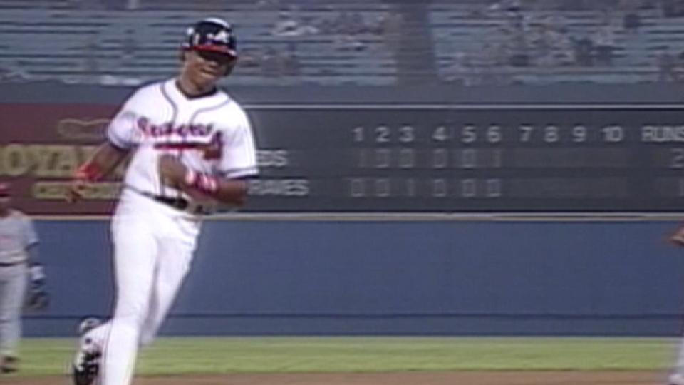 A. Jones' first multi-homer game