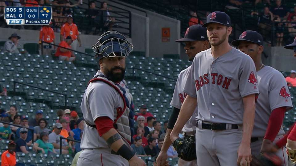 Sale gets ejected in the 7th