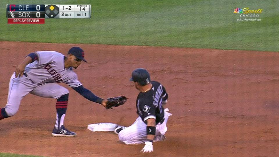 Sanchez swipes second base