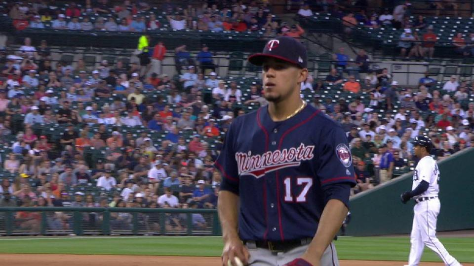 Berrios escapes bases-loaded jam