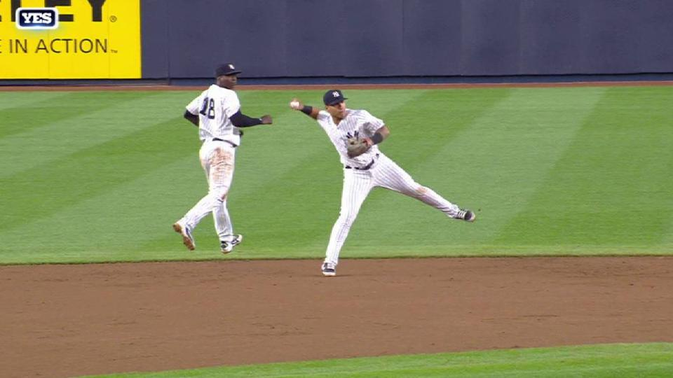 Torres' smooth fielding play