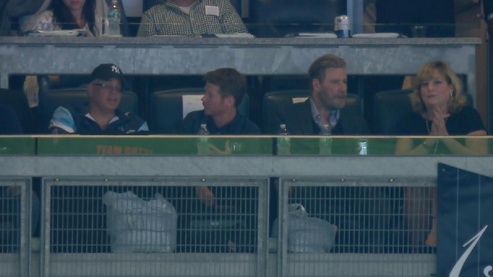 John Travolta at Yankee Stadium