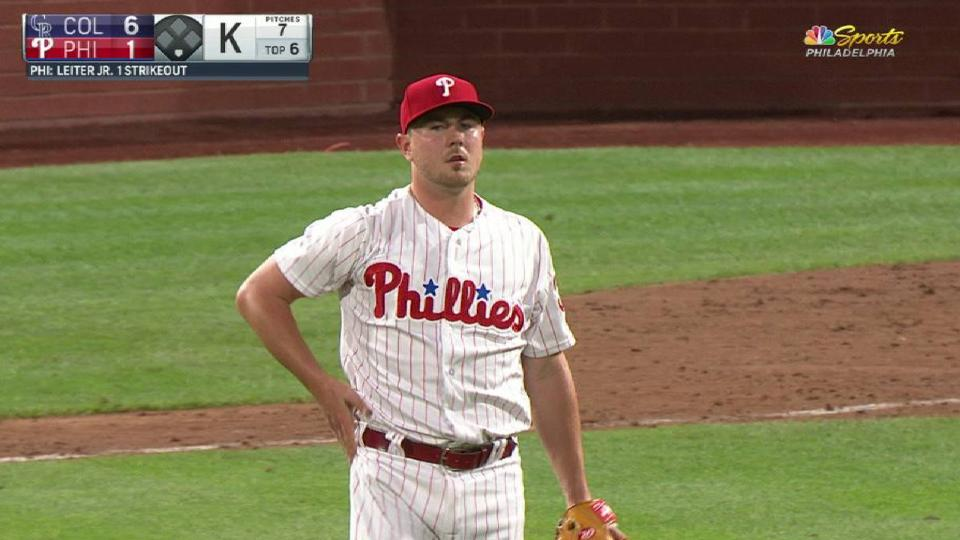 Leiter Jr. collects a strikeout