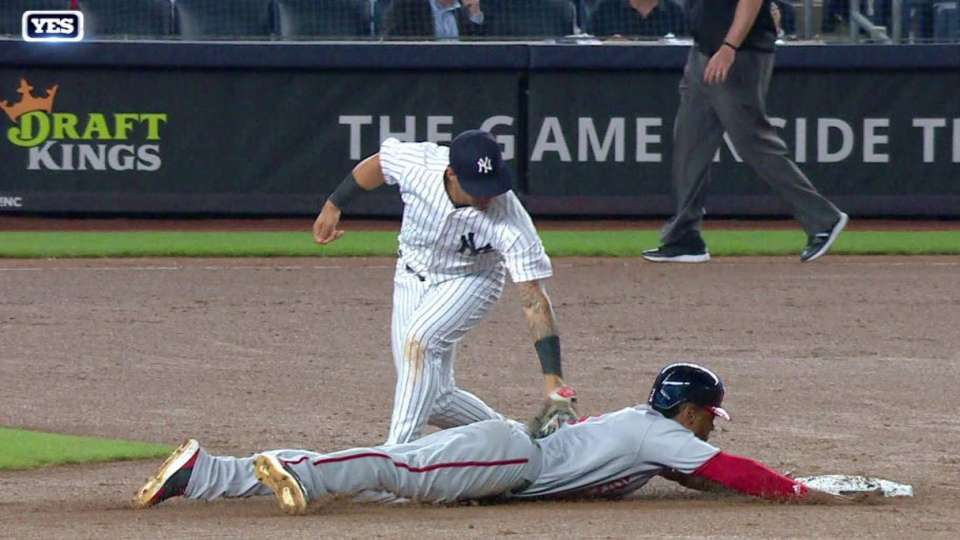 Romine catches Taylor stealing