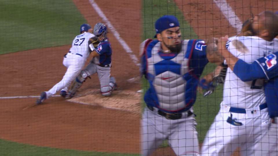 Tempers flare at Dodger Stadium