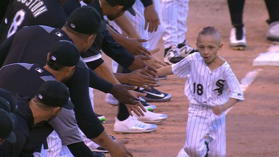 Young fan's special moment