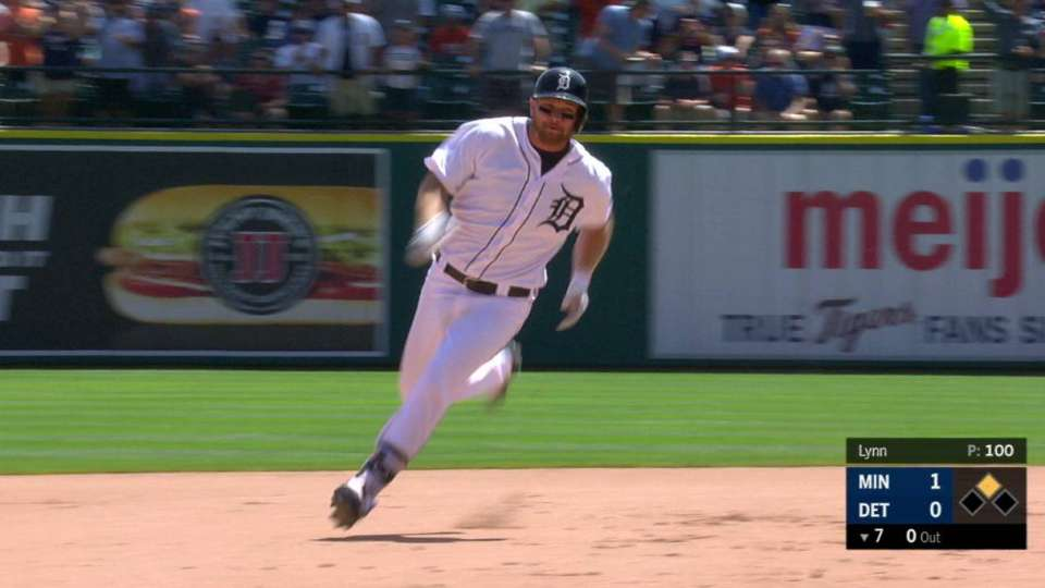 Hicks' triple to right-center