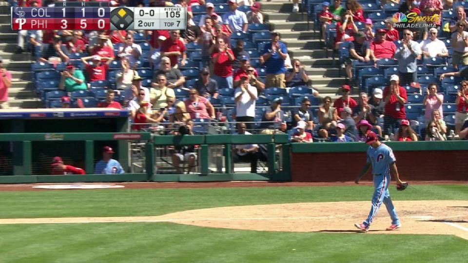 Velasquez loses no-hitter in 7th