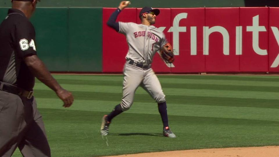 Correa's strong throw to first