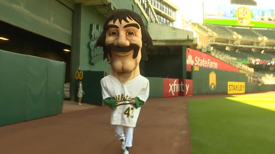 Reporter wears Eckersley costume