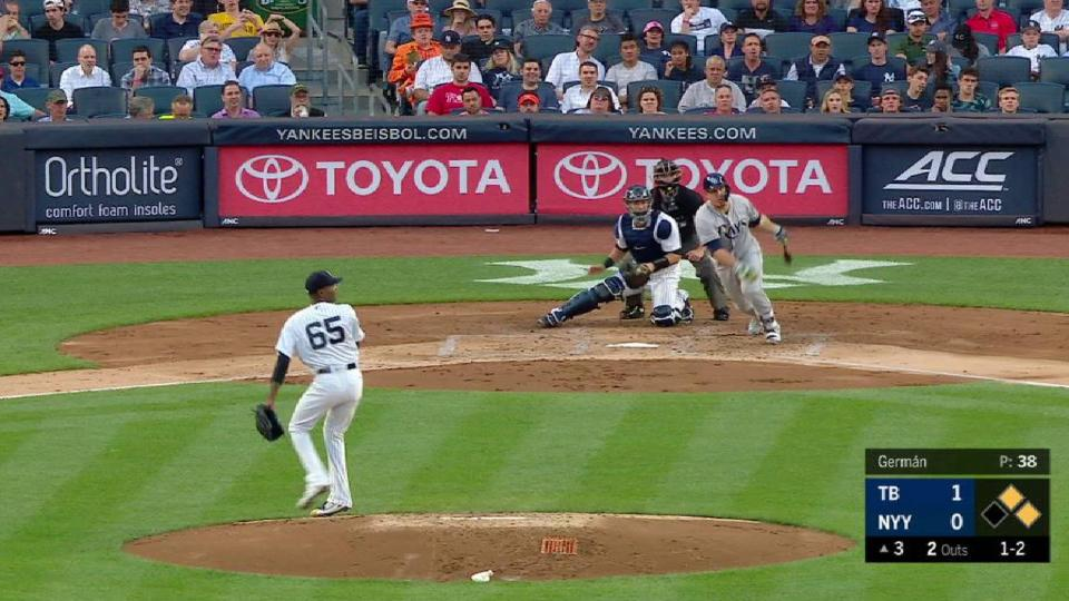 Stanton nabs Duffy at home plate