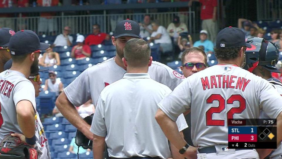 Wacha leaves with an injury
