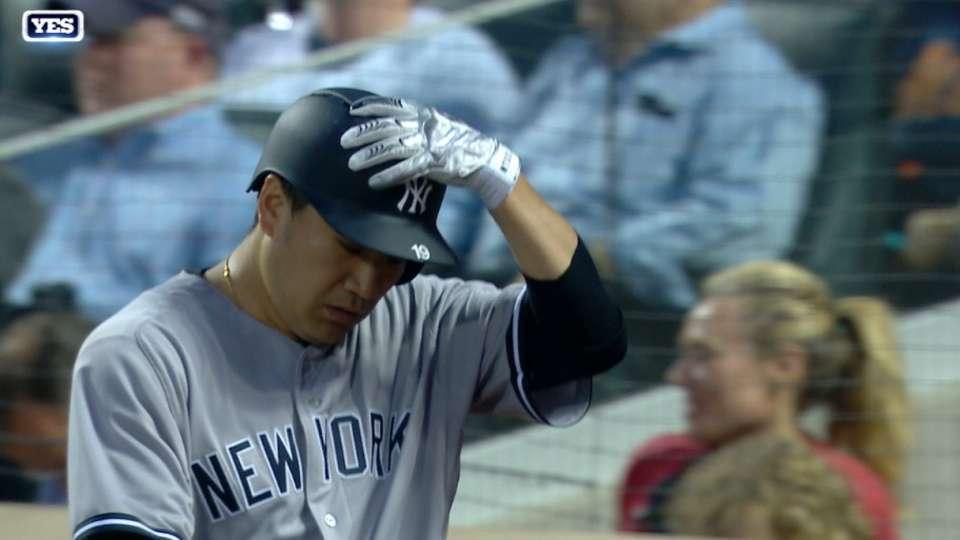 Tanaka injured on basepaths