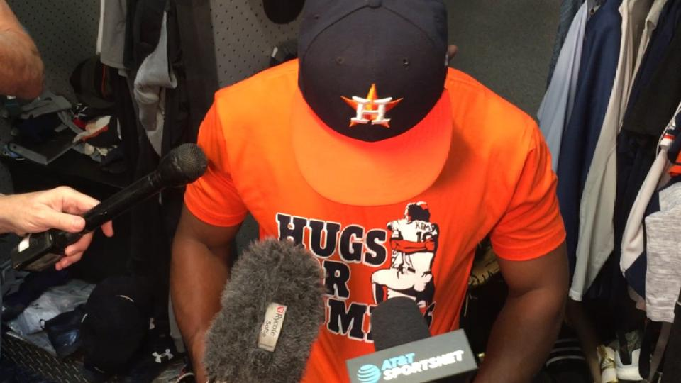 Tony Kemp on Hugs for Homers