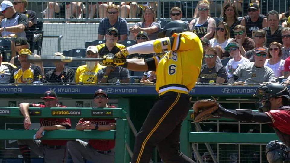 Marte's double to right field