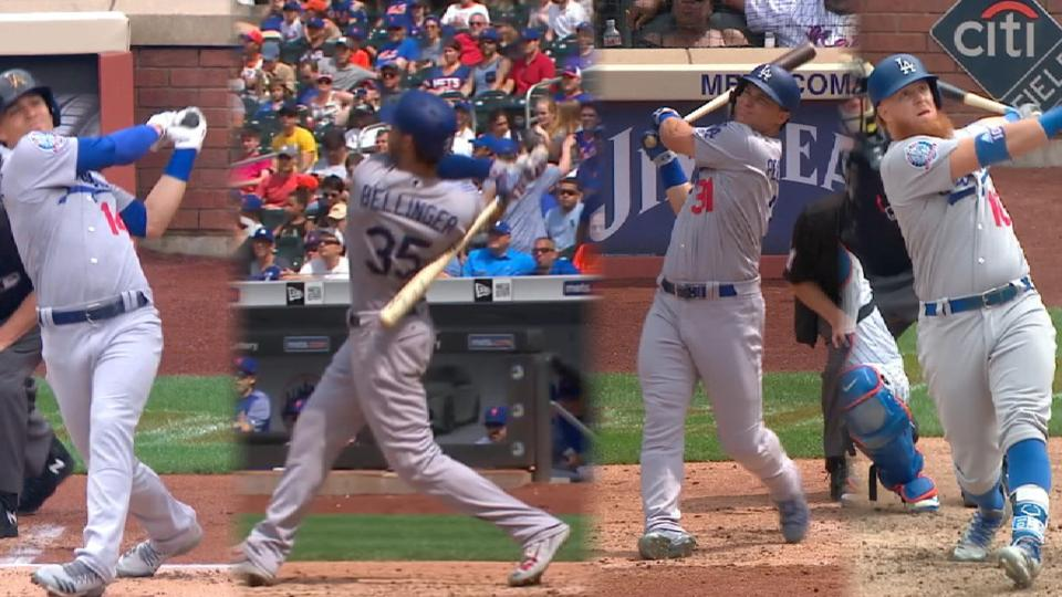 Dodgers pegan siete jonrones